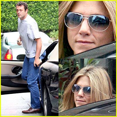 Vince Vaughn Visits Jennifer Aniston's House