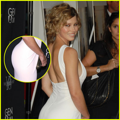 Jessica Biel has a big butt