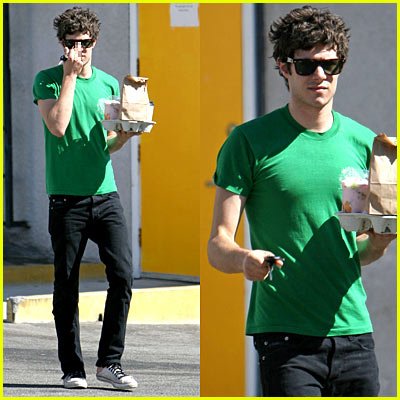 Adam Brody's Middle Finger Salute