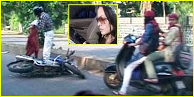 Angelina Jolie's Car Crash