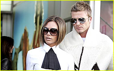 The Beckhams Arrive for TomKat's Wedding