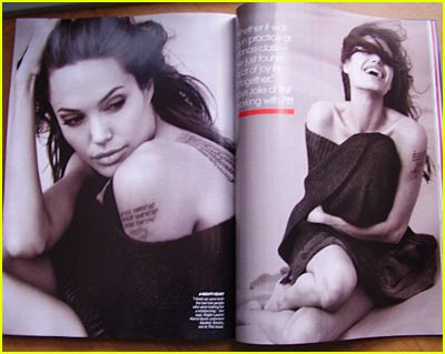 Angelina Jolie's Inside 'Vogue' Pictures