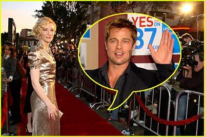 Cate Blanchett on Brad Pitt