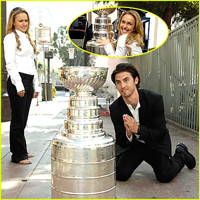 Milo Ventimiglia & Hayden Panettiere Worship the Holy Shrine of Hockey
