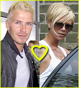 The Beckhams' Bleached Blonde Fun