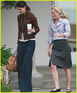 Katie Holmes has Super Wide Legs