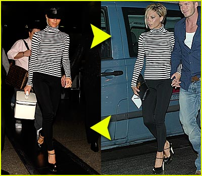 Fashion Faceoff: Posh's Striped Shirt