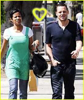 Happily married husband and wife: Justin Chambers and Keisha Chambers (love)