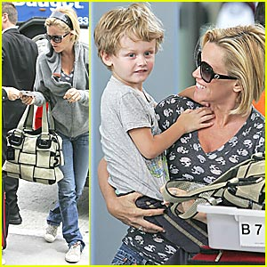 Jenny Jets Off with Son Evan