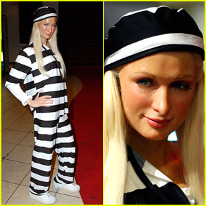 Paris Hilton: Red Carpet Ready to Striped Prison Chic