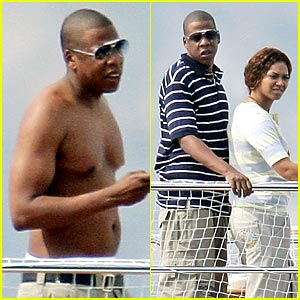 Beyonce Hits the High Seas, Jay-Z Goes Shirtless