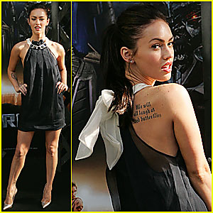 Megan Fox Has a Tattoo Underneath Her Armpit