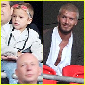 David Beckham @ Concert for Diana