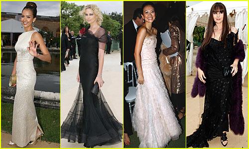 Jessica Alba @ Christian Dior Haute Couture Show