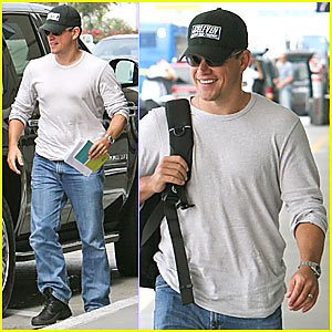Matt Damon @ LAX Airport