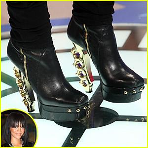 Rihanna's Brass Knuckle Heels