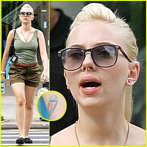 Scarlett Johansson's Nose Ring -- Back in Full Force