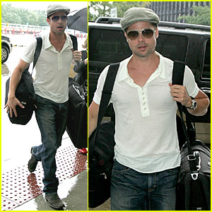 Brad Pitt Hits the Chicago Runway