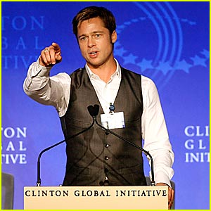 Brad Pitt @ Clinton Global Initiative