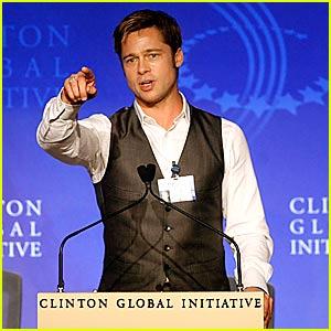 Brad Pitt @ Clinton Global Initiative