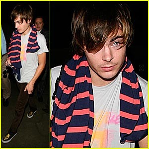 Zac Efron Sports Peach Fuzz