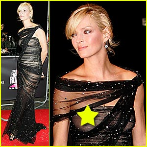 Uma Thurman Sheer is Classy