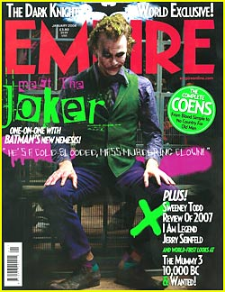 Heath Ledger is the Joker -- Empire's Cover Boy