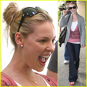 Katherine Heigl Takes a Hit of Grass