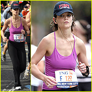 Katie Holmes Running NYC Marathon -- FIRST PICTURES