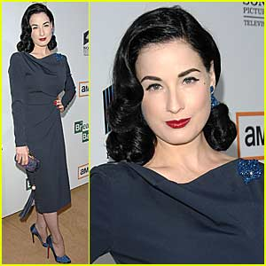 Dita Von Teese is a Blue Beauty