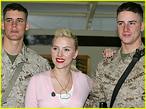 Scarlett Johansson Visits the Troops