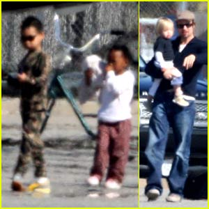 Brad &#038; Angelina's Santa Barbara Saturday