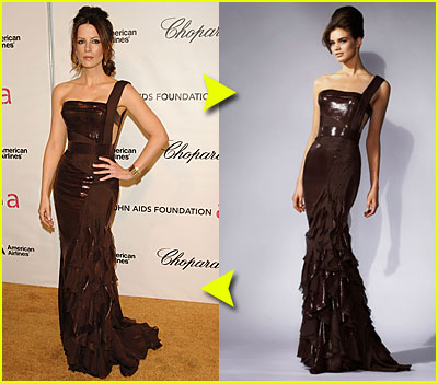 Kate Beckinsale's Versace Face-Off