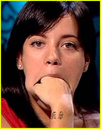 Lily Allen Has a Fist Full