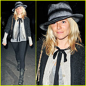 Sienna Miller's Mid-flight Make-out Session
