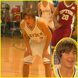 Zac Efron Suits Up in Basketball Unform