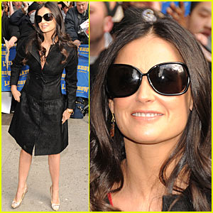 Demi Moore @ The Late Show