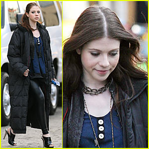 Michelle Trachtenberg is a Leather Gossip Girl