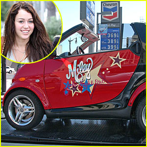 Miley Cyrus  Picture on Miley Cyrus Gets A Convertible Smart Car With     Miley     Girls