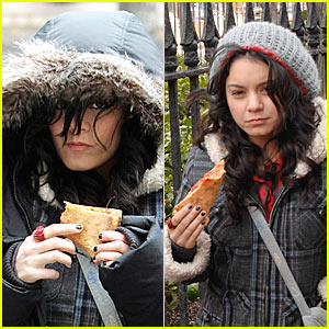 Vanessa Hudgens is a Pizza Monster