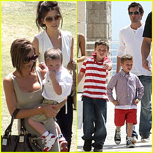 Beckham & Beckinsale's Easter Sunday