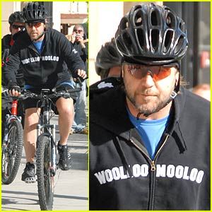 Russell Crowe is a Biker Boy