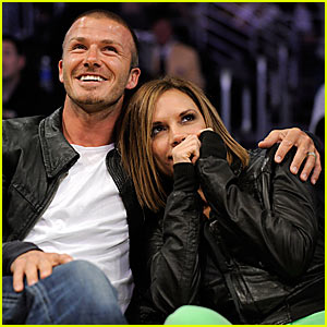 The Beckhams Bring Luck to the Lakers