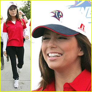 Eva Longoria Runs in Red