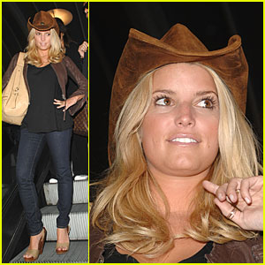 Jessica Simpson's Tan Ten-Gallon