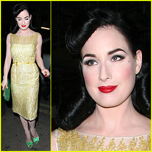 Dita Von Teese Moves it at Movida