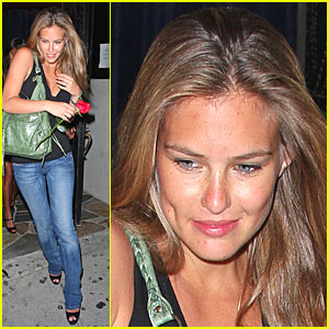 Bar Refaeli Receives Red Rose