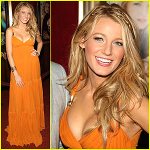 Blake Lively Juices Up On Orange
