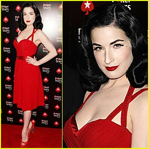 Dita Von Teese is Poker Pretty