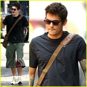 John Mayer Finds a New Friend -- Issac!